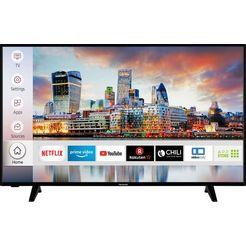"hanseatic led-tv 50h600udsi, 126 cm - 50 "", 4k ultra hd, smart-tv, hdr10 zwart"