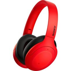 sony »wh-h910n« over-ear-koptelefoon (google assistant, bluetooth) rood