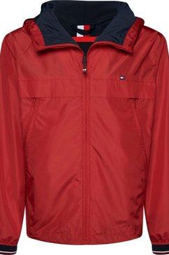 tommy hilfiger windbreaker »light weight hooded jacket« rood