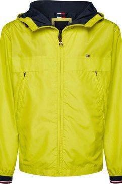 tommy hilfiger windbreaker »light weight hooded jacket« geel
