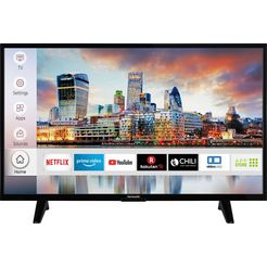 hanseatic 39h500fds led-tv (98 cm - 39 inch), full hd, smart-tv zwart