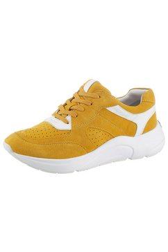 caprice sneakers met sleehak geel