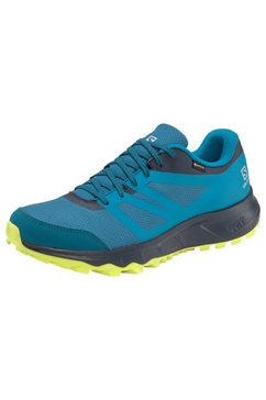salomon runningschoenen »trailster 2 gore-tex« blauw