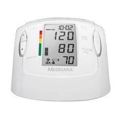 medisana bovenarm-bloeddrukmeter mtp pro met 2x 99 geheugenplaatsen voor 2 gebruikers wit