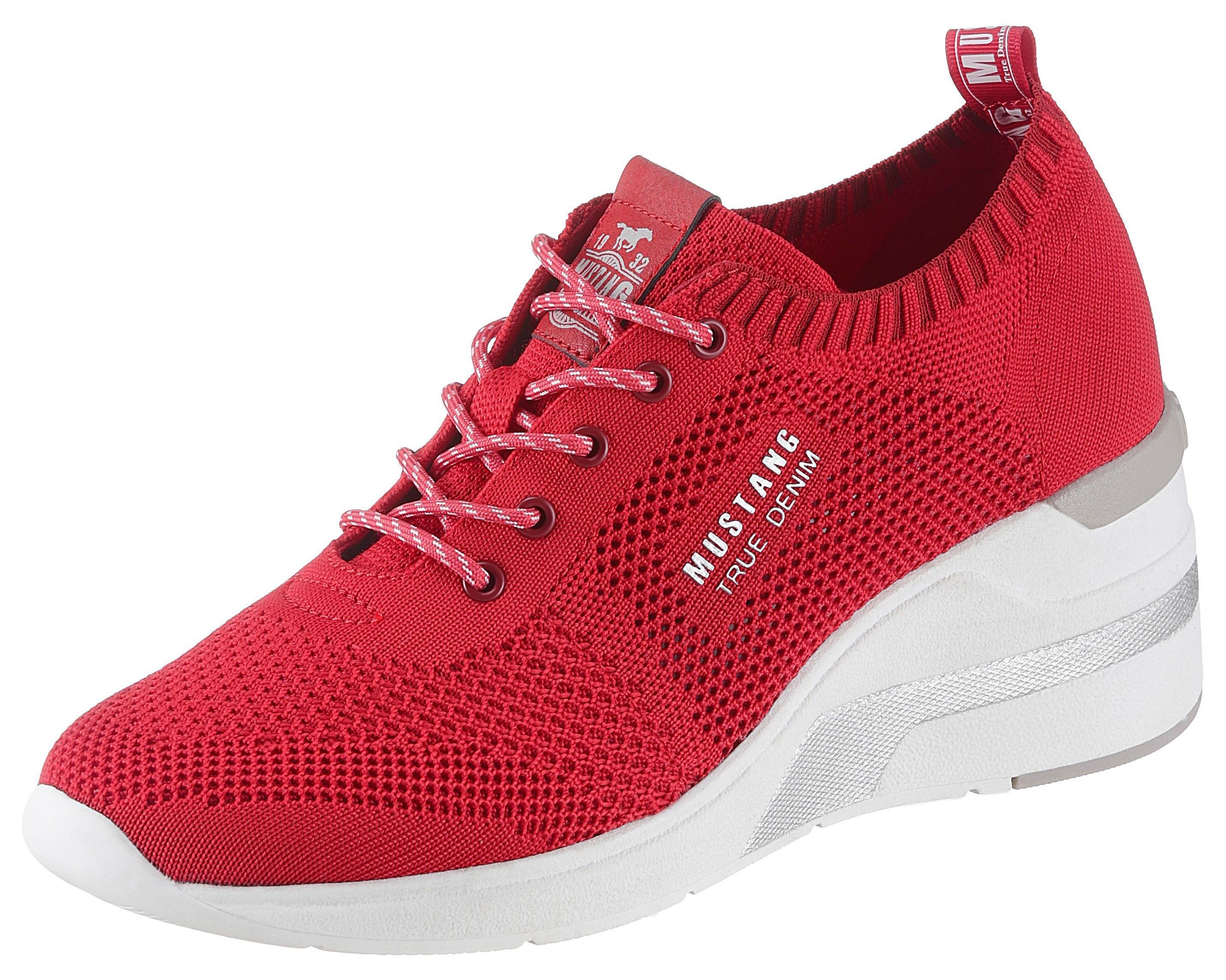 Mustang Shoes sneakers met sleehak nu online kopen bij OTTO