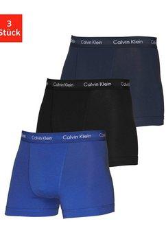 calvin klein boxershort in blauwtinten (3 stuks) blauw
