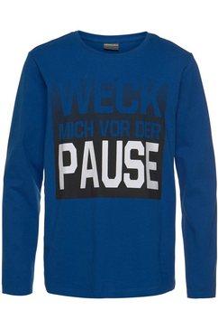 kidsworld shirt met lange mouwen »spreuk« blauw