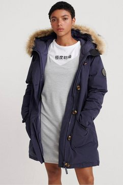 superdry parka »rookie down parka« blauw
