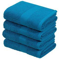home affaire handdoeken eva in premium kwaliteit (4 stuks) groen