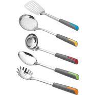 esmeyer set keukengerei alegria kleurrijke toepassingen (set, 5-delig) zilver