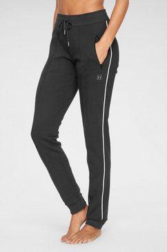 lascana joggingbroek met biezen en ritszakken zwart