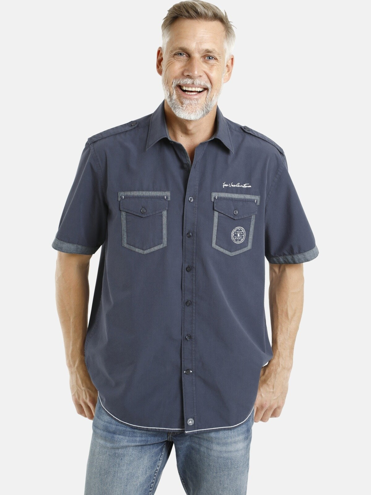 Jan Vanderstorm Overhemd met korte mouwen LOKE Epauletten, comfort fit bij OTTO online kopen