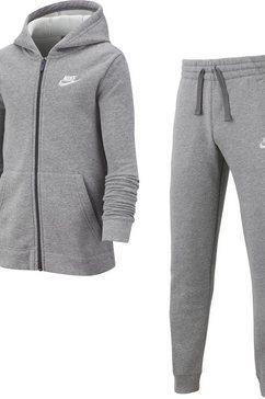 nike sportswear joggingpak »boys tracksuit core fleece« (set, 2-delig) grijs