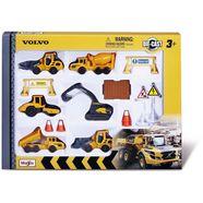 maisto speelgoedauto volvo bouwvoertuigenset (set) geel