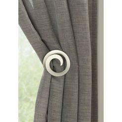 gardinia deco-klem rondlopende embrasse (2 stuks) zilver