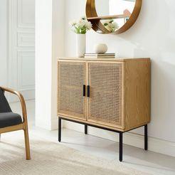 couch ♥ dressoir fijne vlechtwerk couch favorieten, front met weens vlechtwerk beige