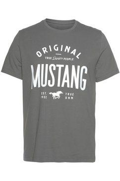 mustang shirt met korte mouwen grijs