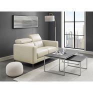 places of style 2-zitsbank california met verstelbare hoofdsteun, in twee stofkwaliteiten wit