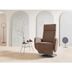 places of style tv--relaxfauteuil »kobra«, voet: draaischijf van edelstaal, gasdrukveer bruin