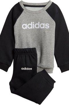 adidas joggingpak »linear jogger fleece« (set, 2 tlg.) zwart