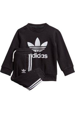 adidas originals joggingpak »crew set« (set, 2 tlg.) zwart