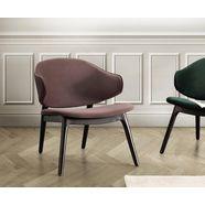 andas fauteuil »sporring« met onderstel van massief essenhout, design by morten georgsen bruin