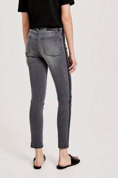 opus skinny fit jeans »evita« grijs