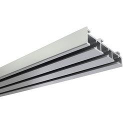 gardinia gordijnrail paneelgordijnrail 3-sporig standaardmaat, serie paneelgordijn techniek atlanta (1 stuk) zilver
