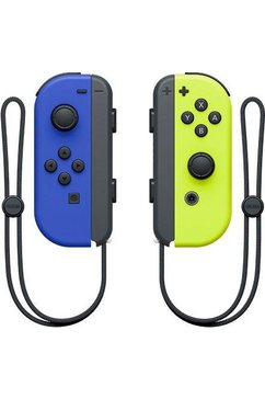 nintendo switch »switch joy-con 2er-set blau-neon-gelb« switch-controller multicolor