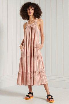 superdry midi-jurk sleeveless embroidered