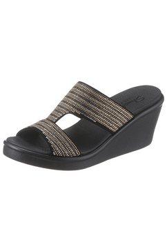skechers slippers »rumble on - bling gal« zwart