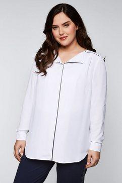 sheego blouse met lange mouwen wit