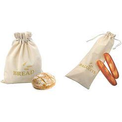 think kitchen broodzak 1 stokbroodzak, 1 broodzak (set, 2-delig) beige