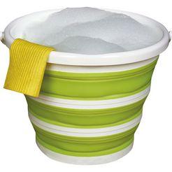 think@home opvouwbare emmer opvouwbaar, inhoud 10 liter groen