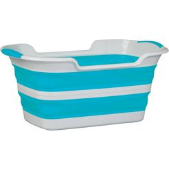 think@home wasmand opvouwbaar, 37 liter blauw