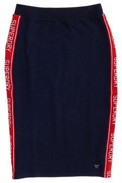 superdry sweatrok »orla sweat pencil skirt« blauw