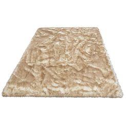 hoogpolig vloerkleed, »sammo«, my home, rechthoekig, hoogte 60 mm, met print wit