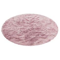 hoogpolig vloerkleed, »valeria«, home affaire, rond, hoogte 60 mm, met print paars