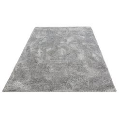 hoogpolig vloerkleed, »menka«, andas, rechthoekig, hoogte 30 mm, machinaal geweven grijs