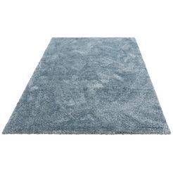 hoogpolig vloerkleed, »menka«, andas, rechthoekig, hoogte 30 mm, machinaal geweven blauw