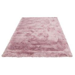 hoogpolig vloerkleed, »valeria«, home affaire, rechthoekig, hoogte 60 mm, met print paars
