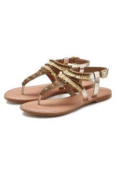 lascana sandalen met steentjes goud