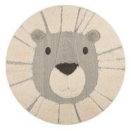 vloerkleed voor de kinderkamer, »lion lucky«, zala living, rond, hoogte 22 mm, machinaal geweven beige
