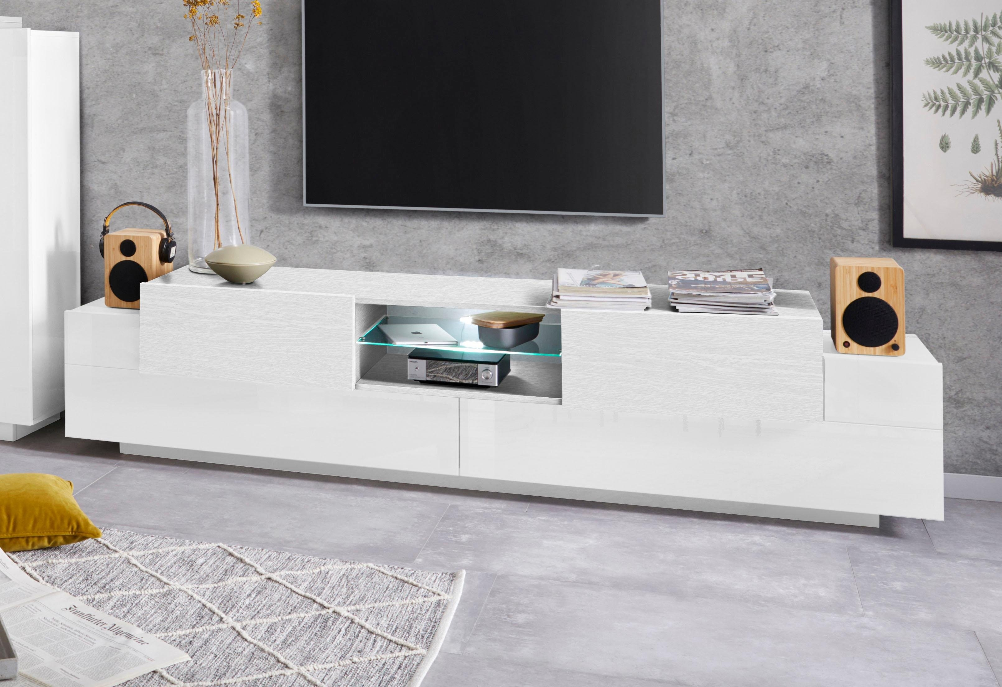 Tecnos tv-meubel Coro Breedte 220 cm - verschillende betaalmethodes