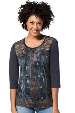 classic basics shirt met 3-4-mouwen blauw