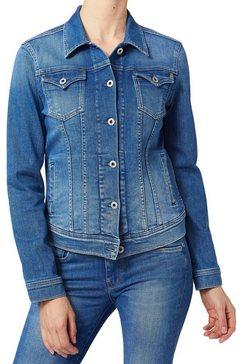 pepe jeans jeansjack »thrift« blauw
