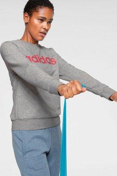 adidas sweatshirt »e linear sweat« grijs