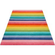 vloerkleed voor de kinderkamer, »rainbow stripes«, smart kids, rechthoekig, hoogte 9 mm, handgetuft bunt