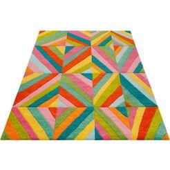 smart kids vloerkleed voor de kinderkamer funky kaleidoscope voor alle woonruimtes, contour gesneden rood