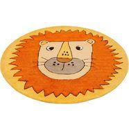 smart kids vloerkleed voor de kinderkamer linus leeuw diermotief, gesneden relifpatroon oranje